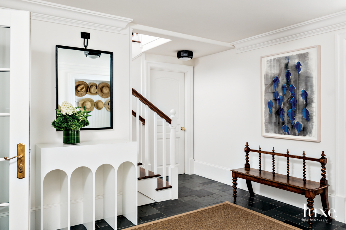 eclectic white entry white custom...