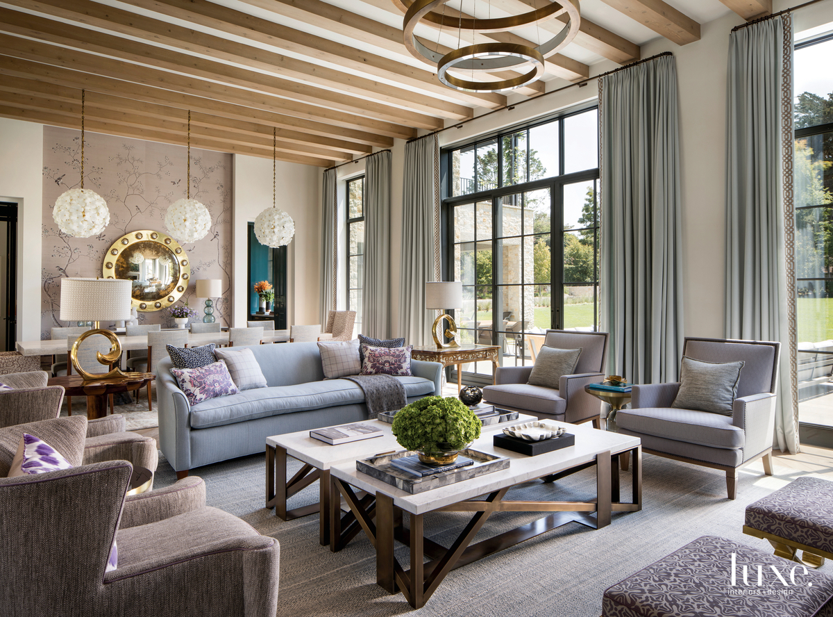 contemporary living room neutral palette...