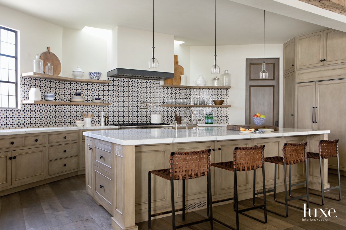 contemporary neutral kitchen white-oak cabinetry