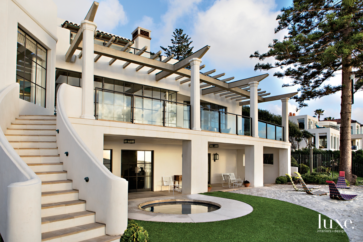 contemporary exterior and landscape
