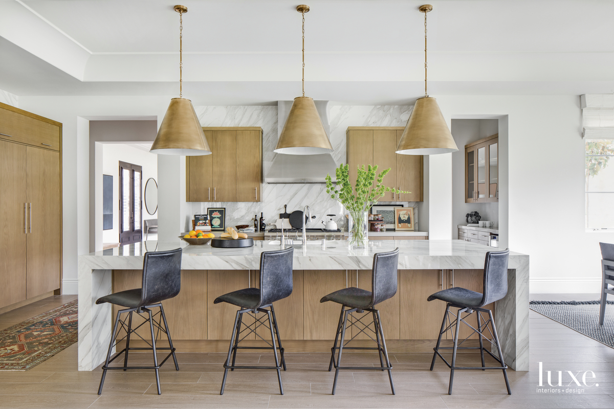 contemporary kitchen black counter chairs