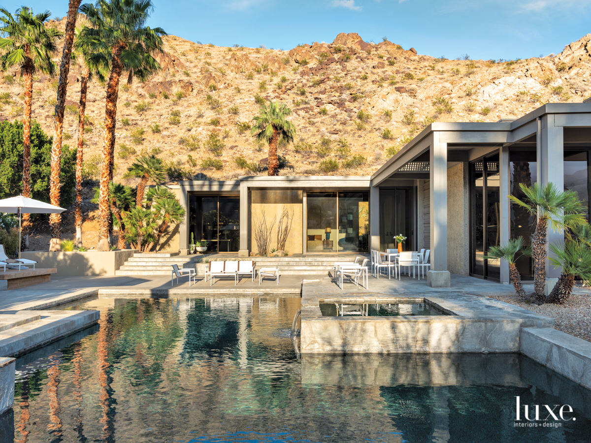 mid-century modern exterior pool