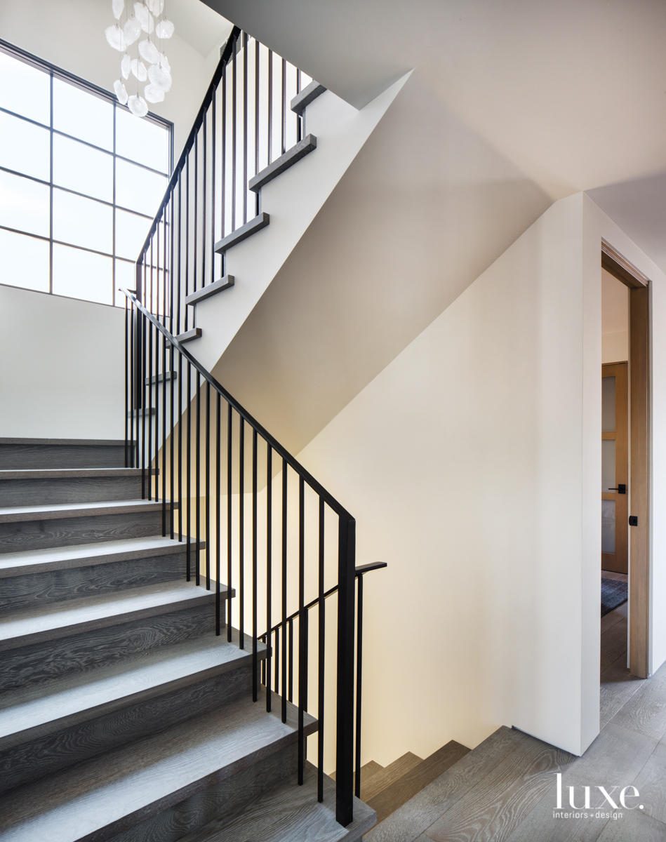 contemporary staircase gray