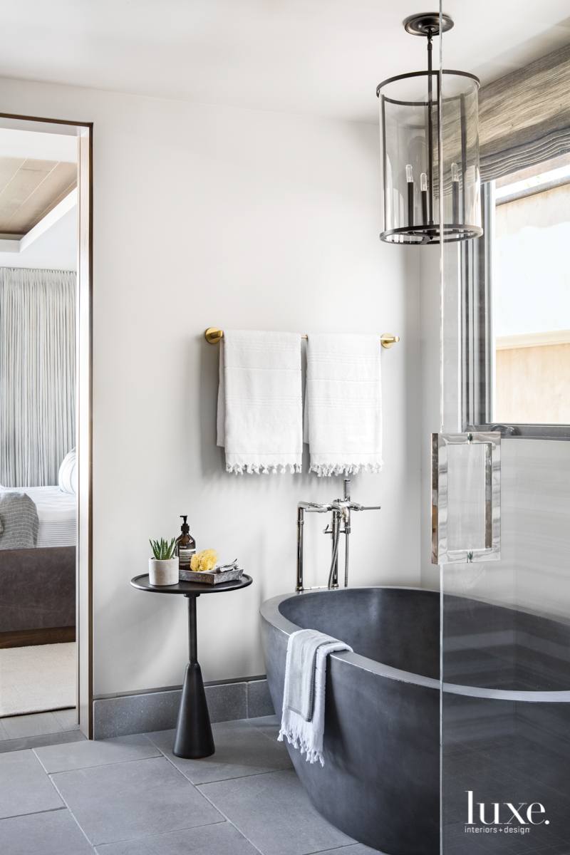 contemporary bathroom gray palette