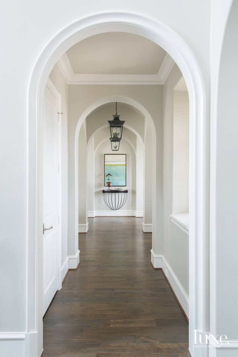 farmhouse white hallway console wood...