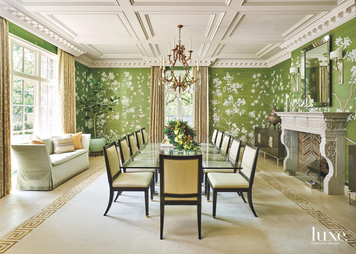 traditional green dining room chandelier
