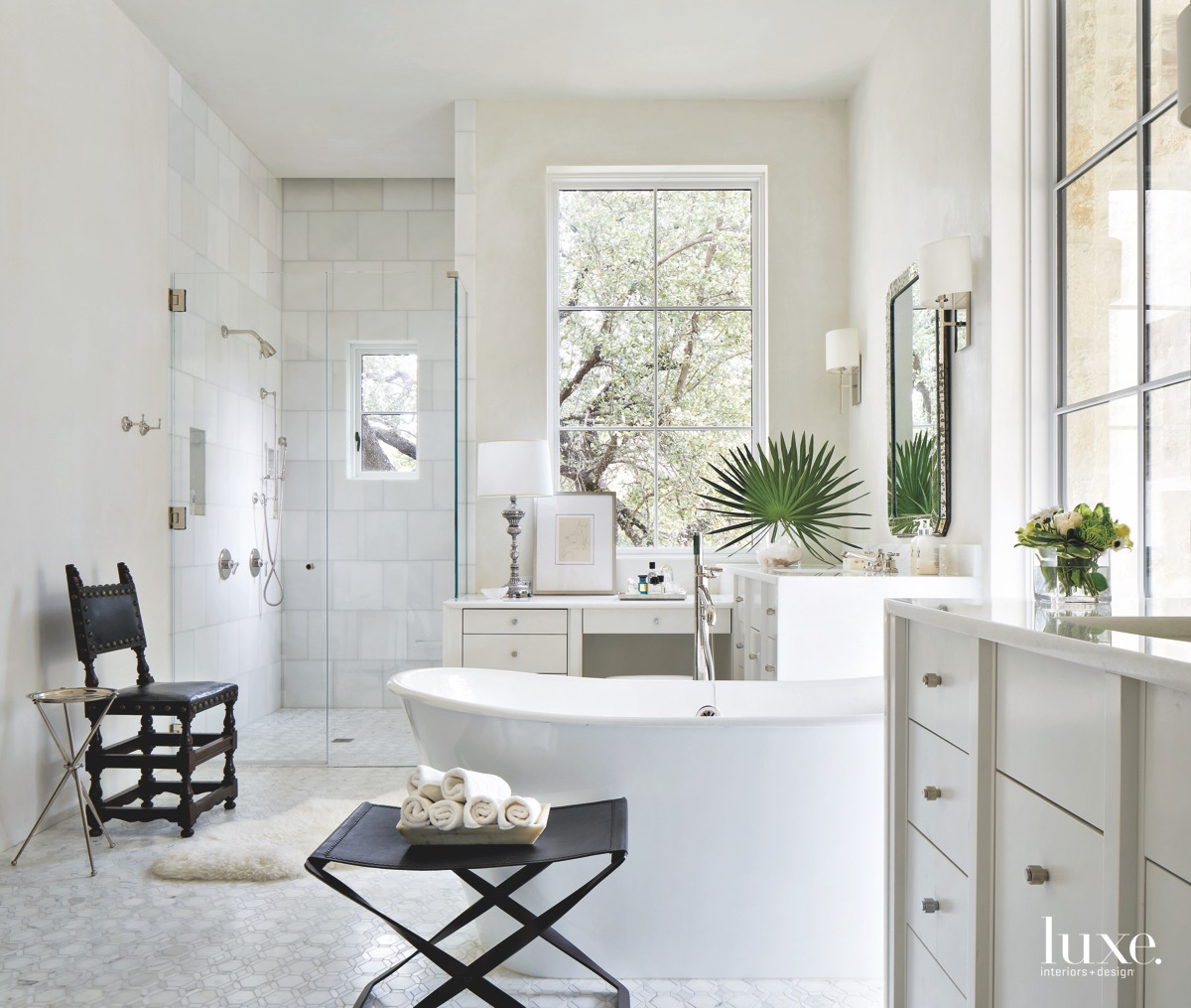 mediterranean white bathroom
