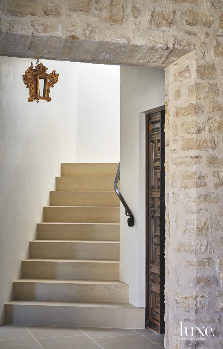 mediterranean neutral staircase limestone
