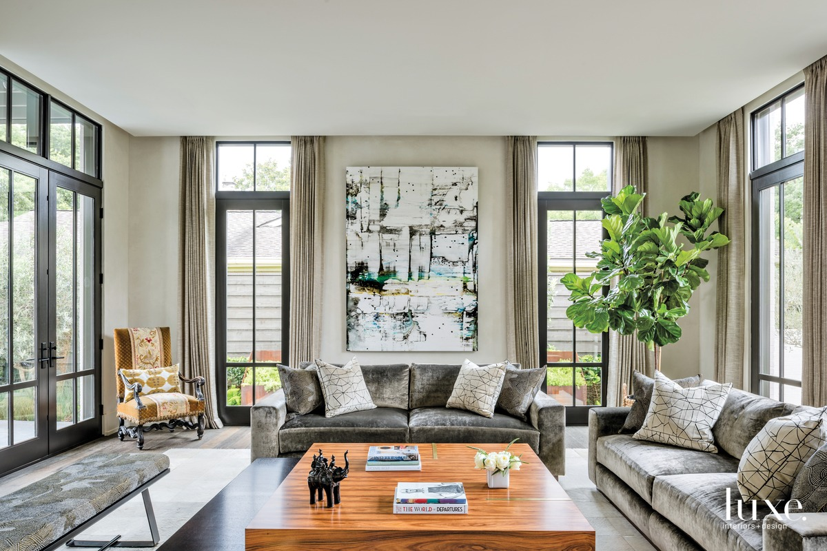 transitional neutral living room gray...