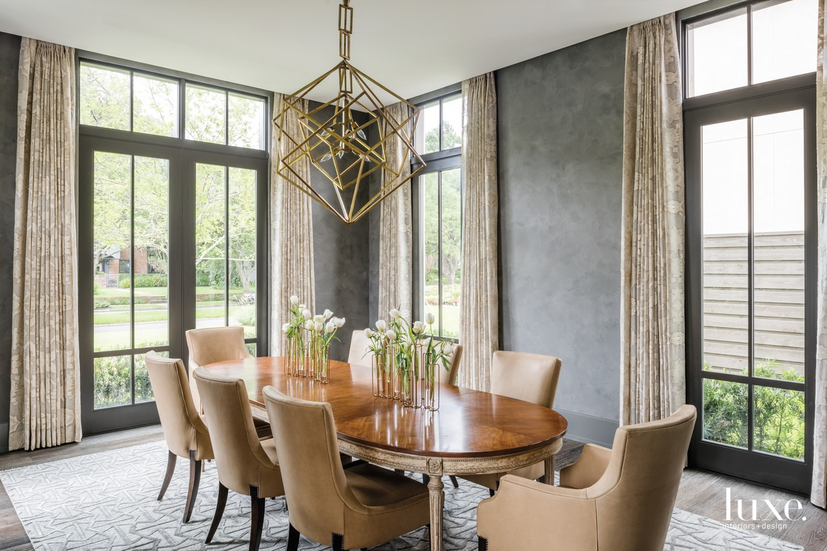 transitional neutral dining room charcoal...