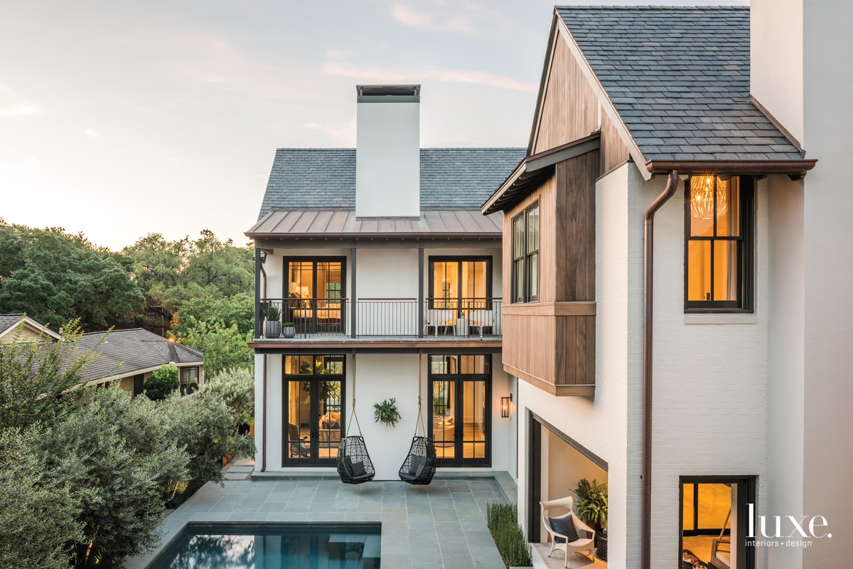 transitional exterior houston