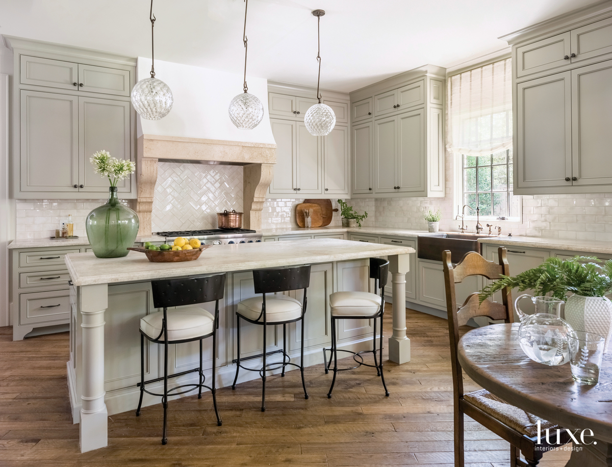 traditional neutral kitchen gray cabinetry