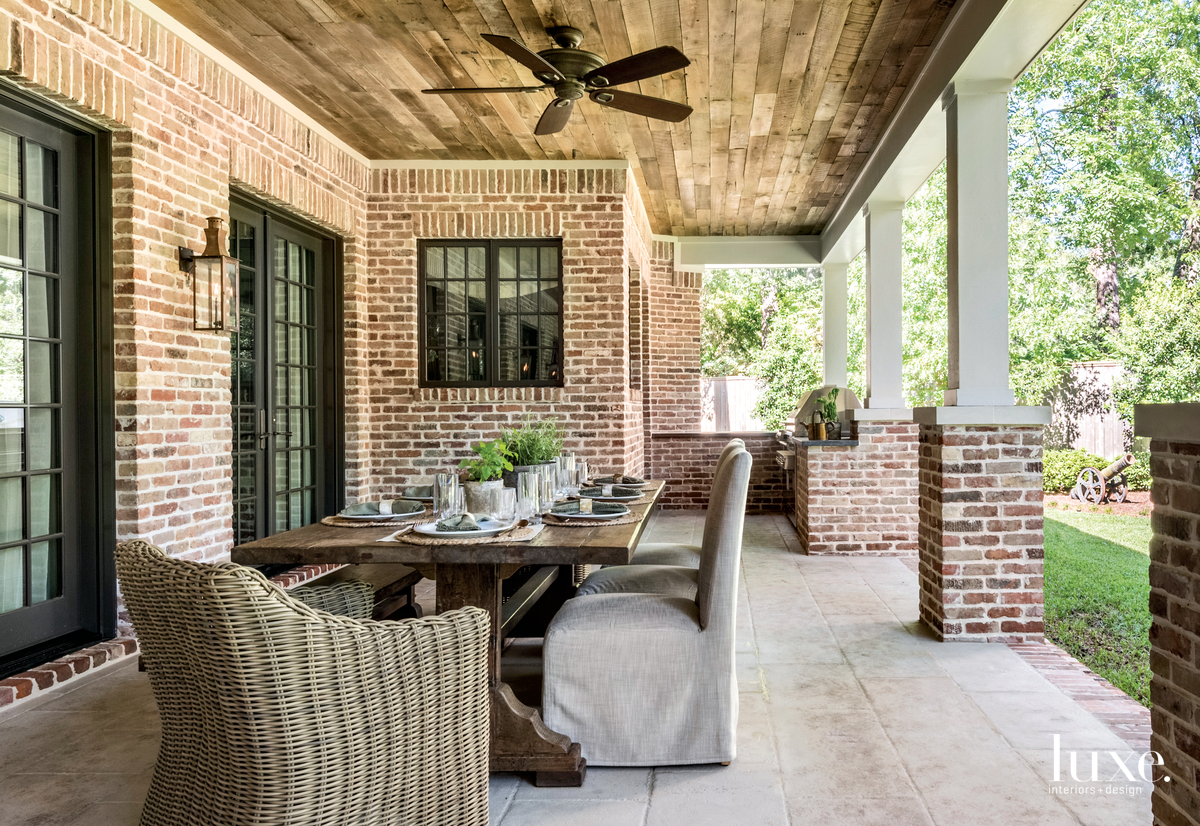 traditional outdoor covered dining area...
