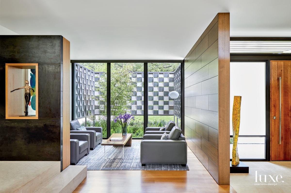 contemporary living area gray