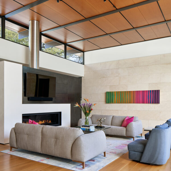 Natural Materials Add Warmth To A Contemporary Home