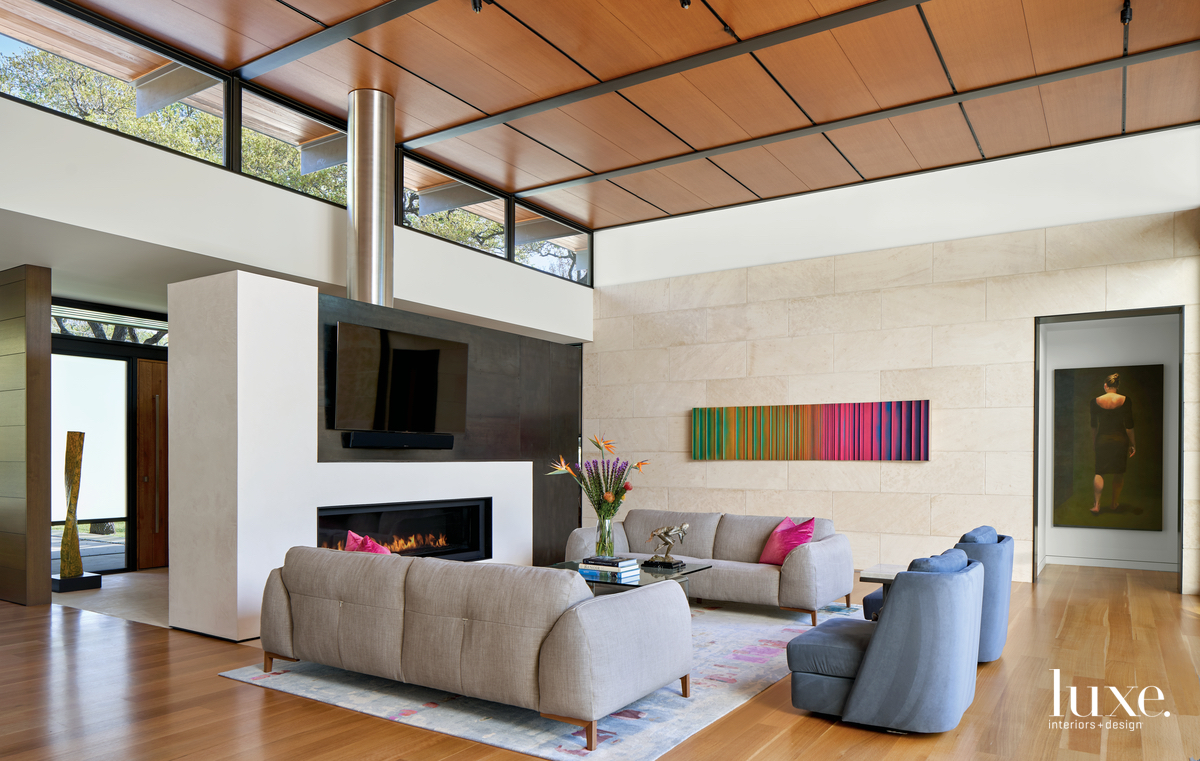 Natural Materials Add Warmth To A Contemporary Home {Natural Materials Add Warmth To A Contemporary Home} – English