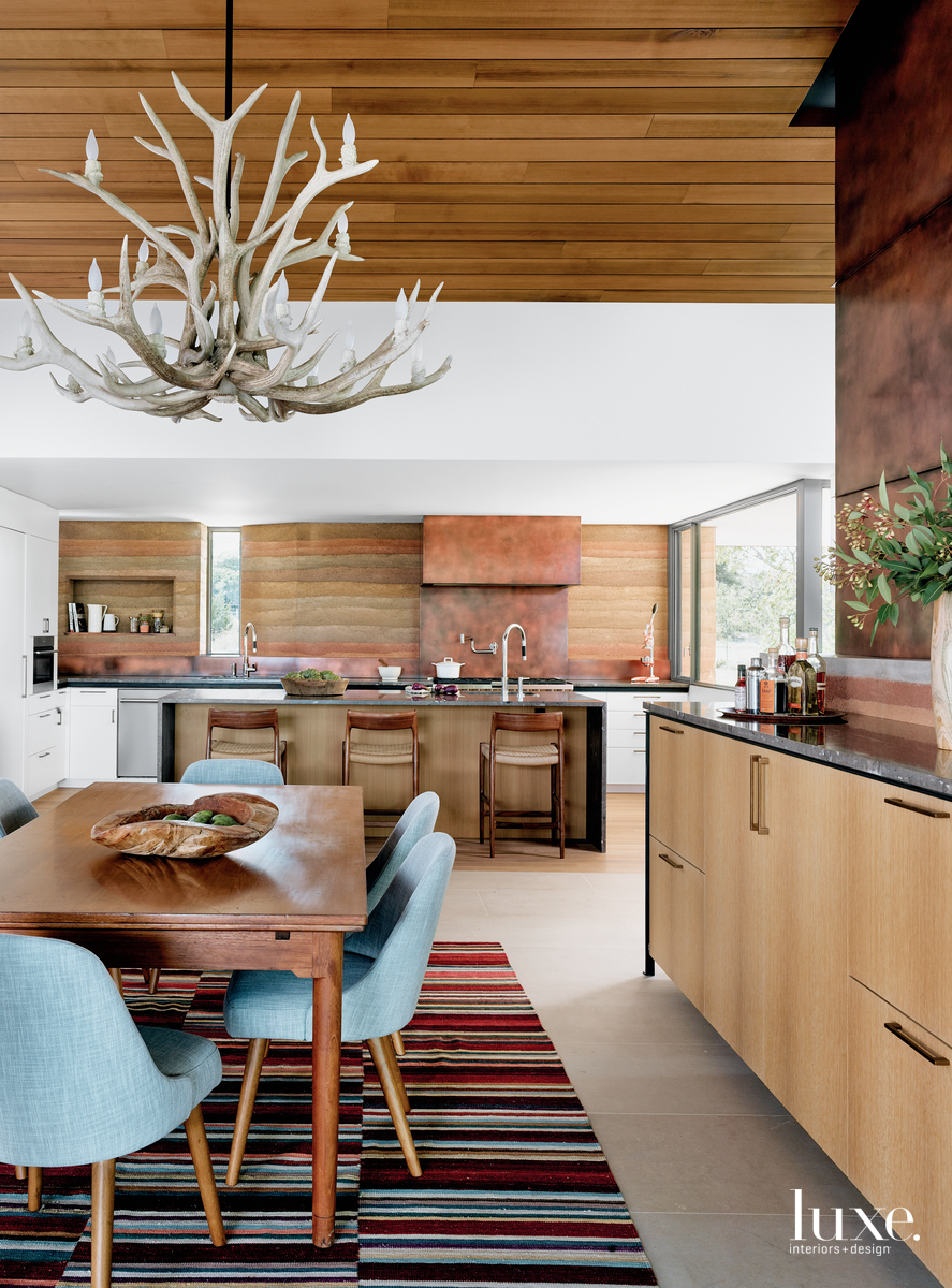 modern dining room brown with...