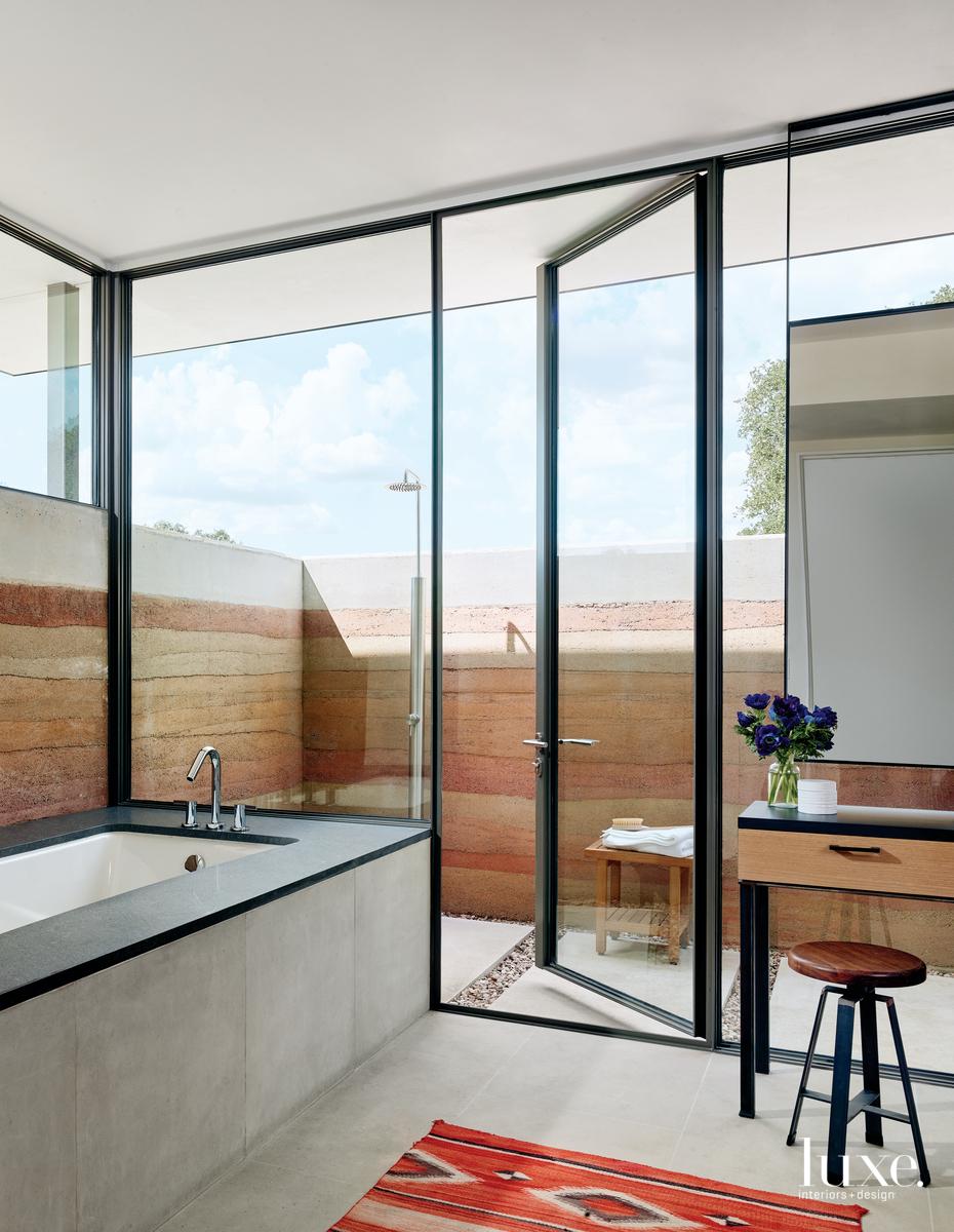 modern bathroom neutral outdoor shower...