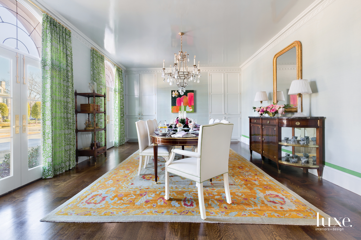 traditional dining room multi-color