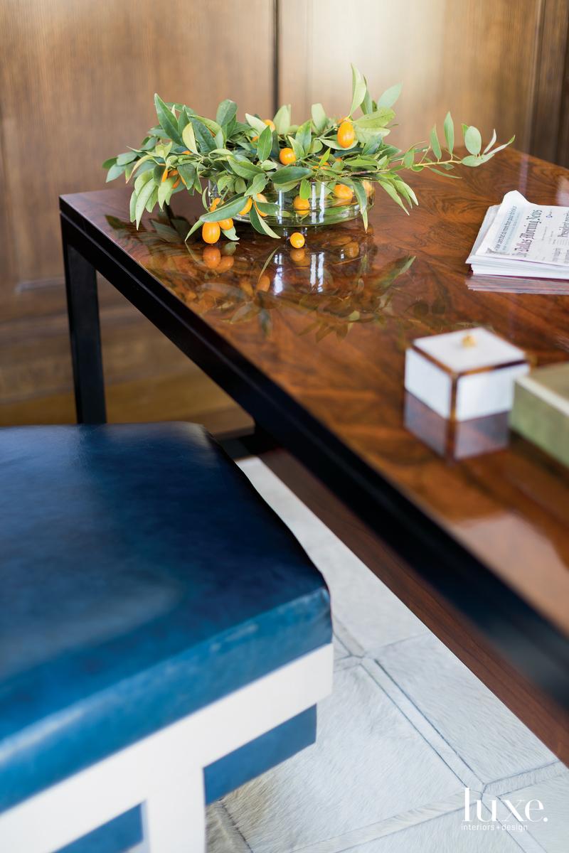 traditional office rosewood vintage desk...