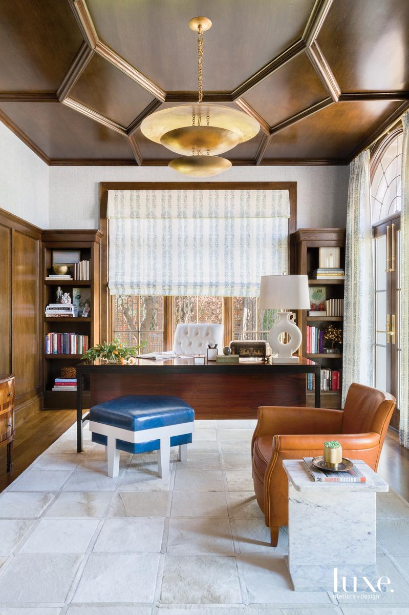 traditional office vintage rosewood desk...