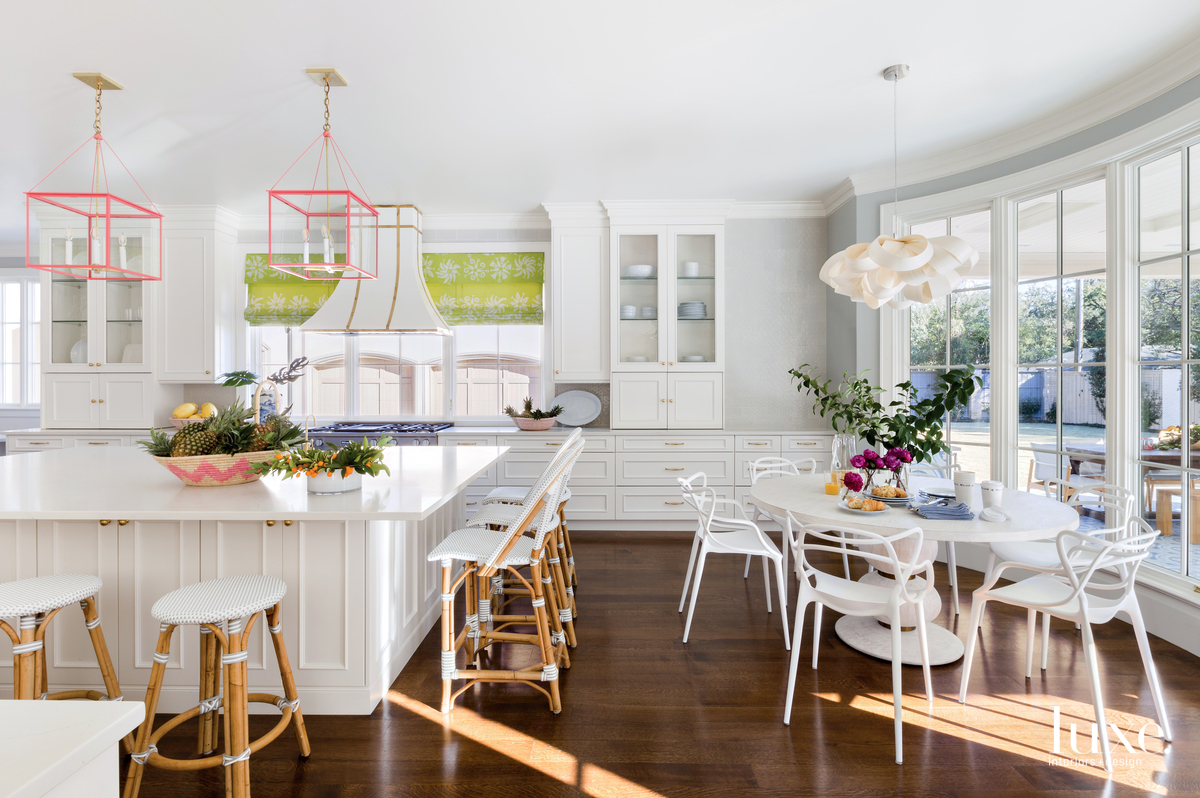 traditional white kitchen and white...