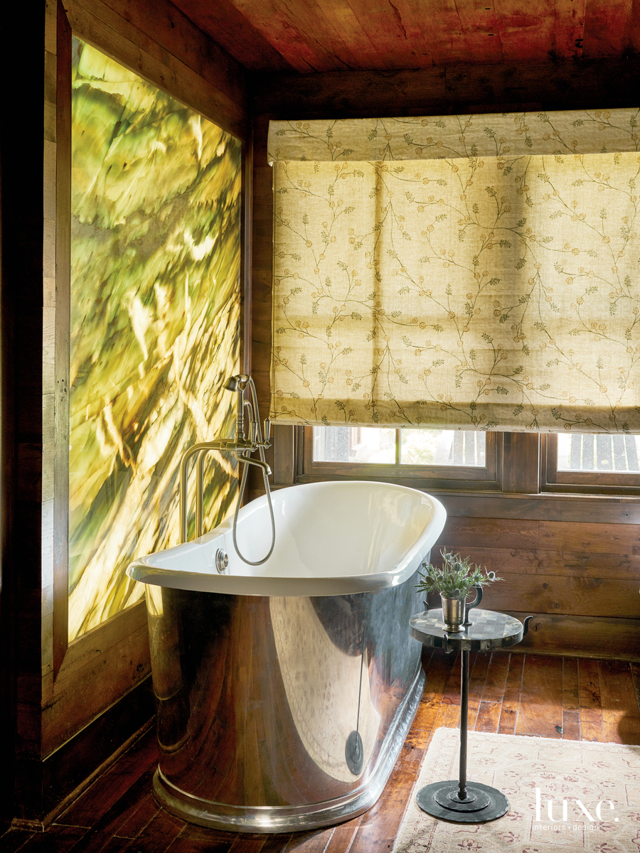 traditional bathroom freestanding tub accent...
