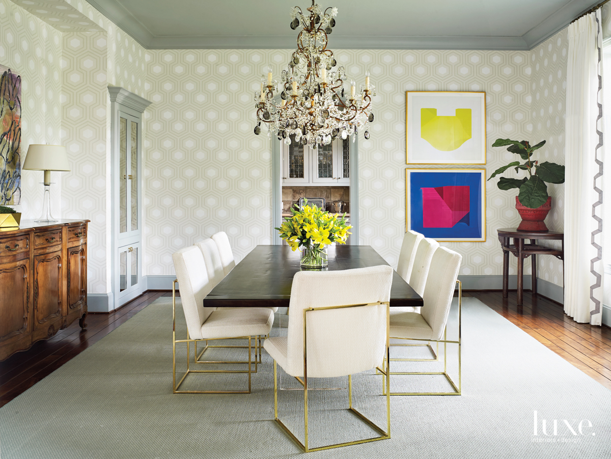 transitional dining room neutral palette...