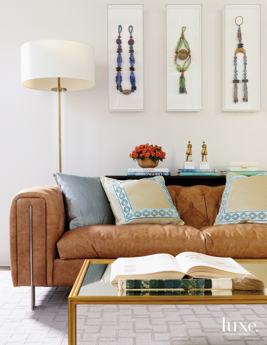 contemporary neutral living room paintings