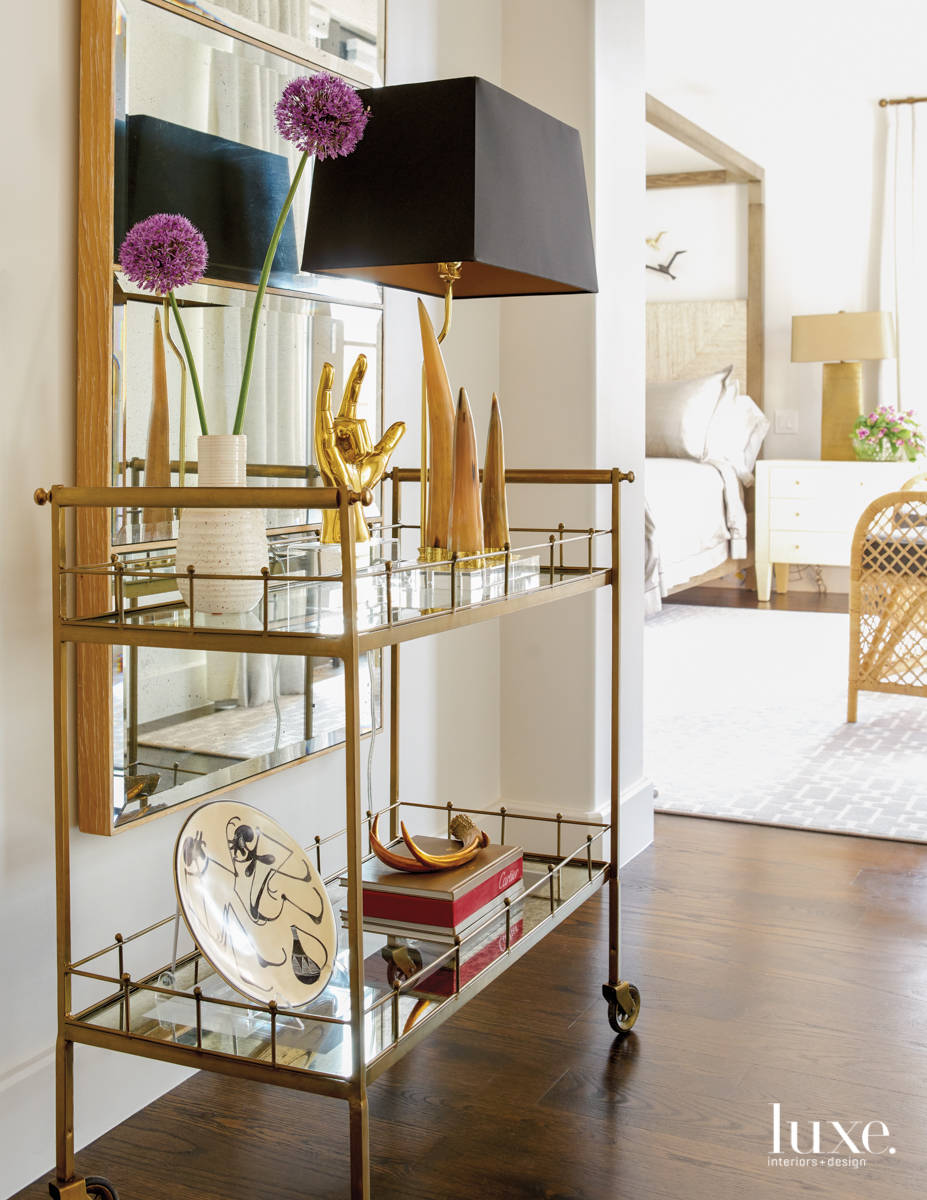 contemporary hallway console table gold...