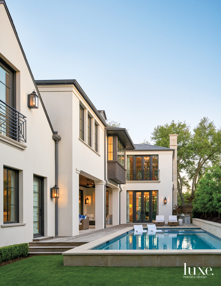 contemporary exterior and pool