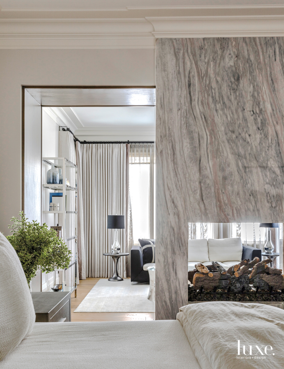 transitional bedroom neutral gray palette...