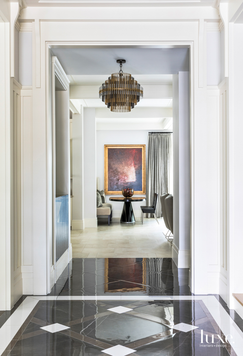 transitional white hallway