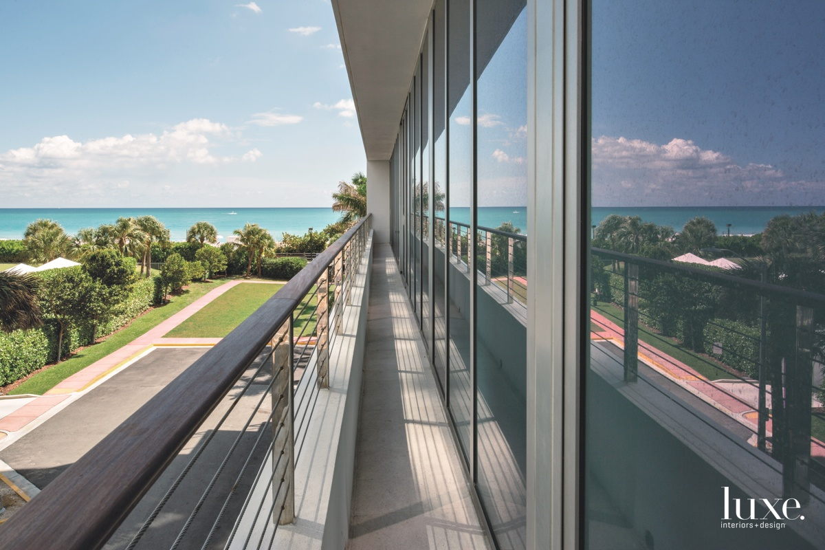 modern balcony side terrace