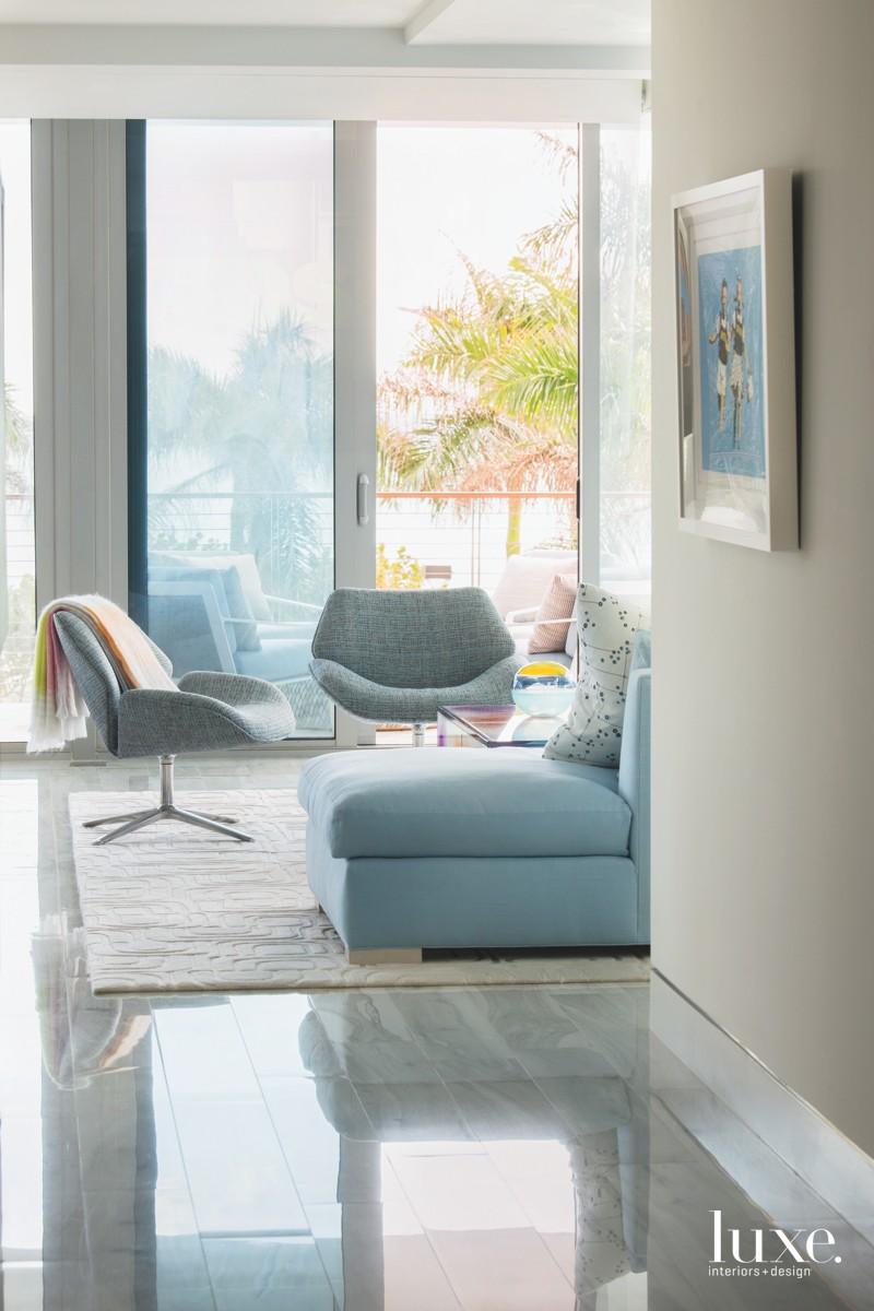 modern hallway into living area...