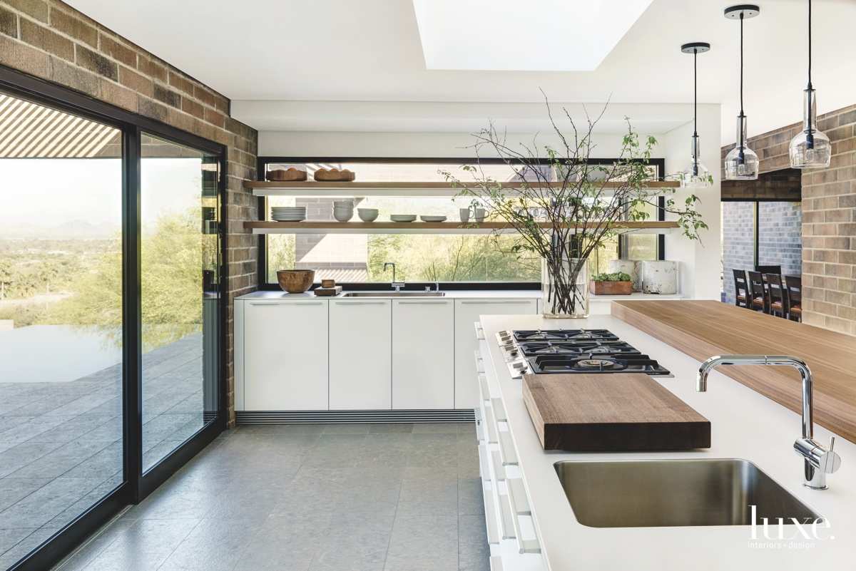 contemporary kitchen neutral sliding glass...
