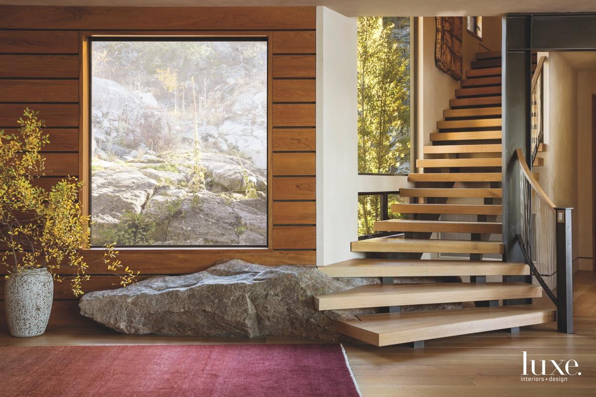 contemporary staircase rock