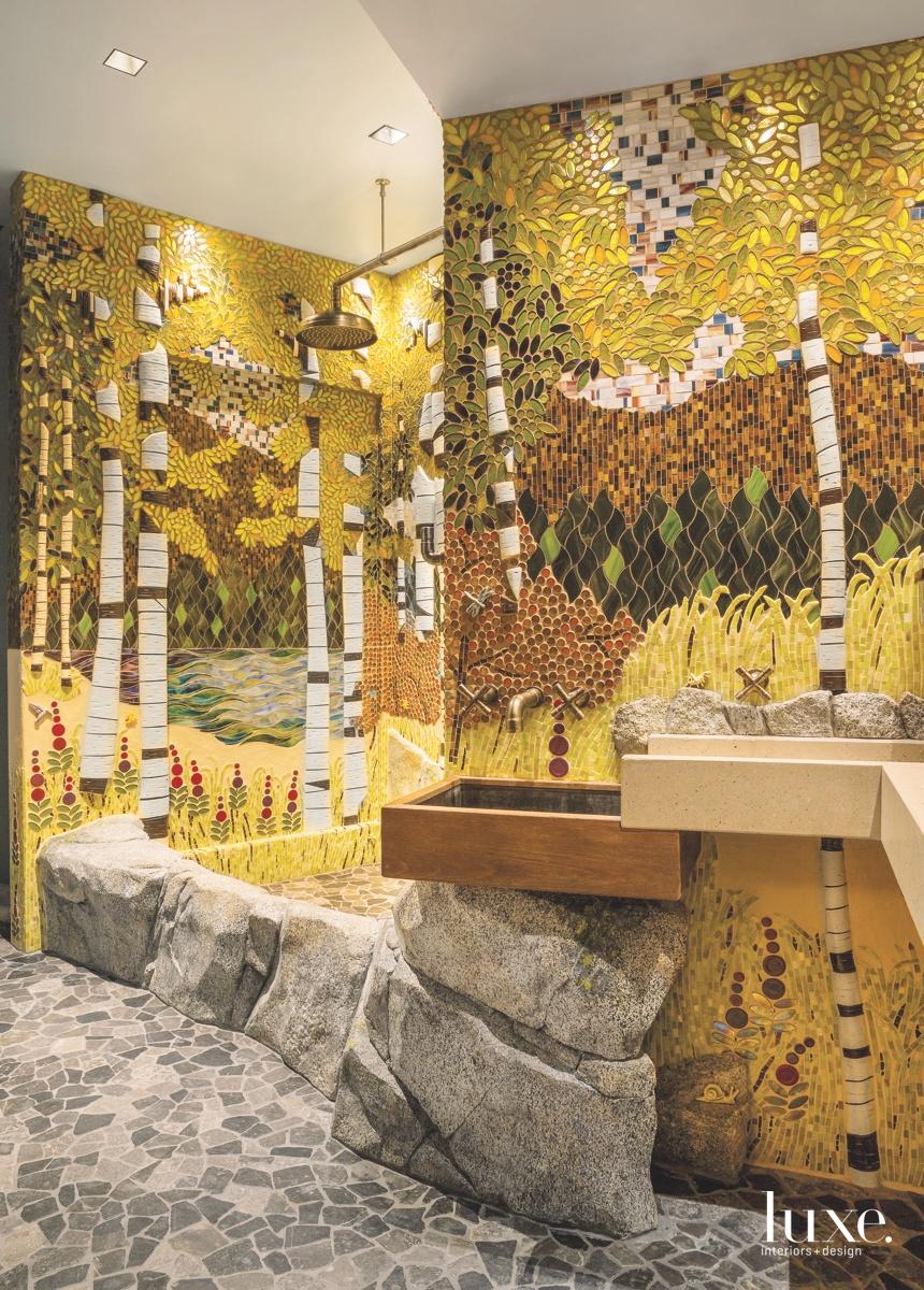 contemporary bathroom whimsical space rocks...