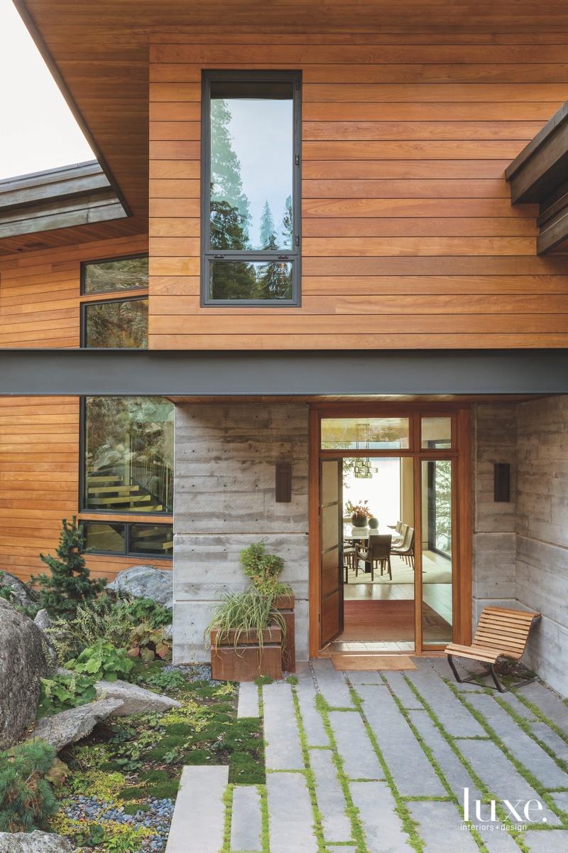 contemporary exterior entry door rows...