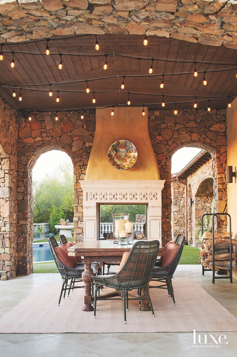 traditional patio outdoor sitting area...