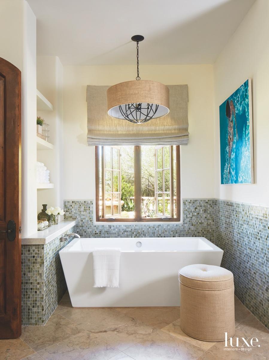 traditional bathroom mosaic tile custom...