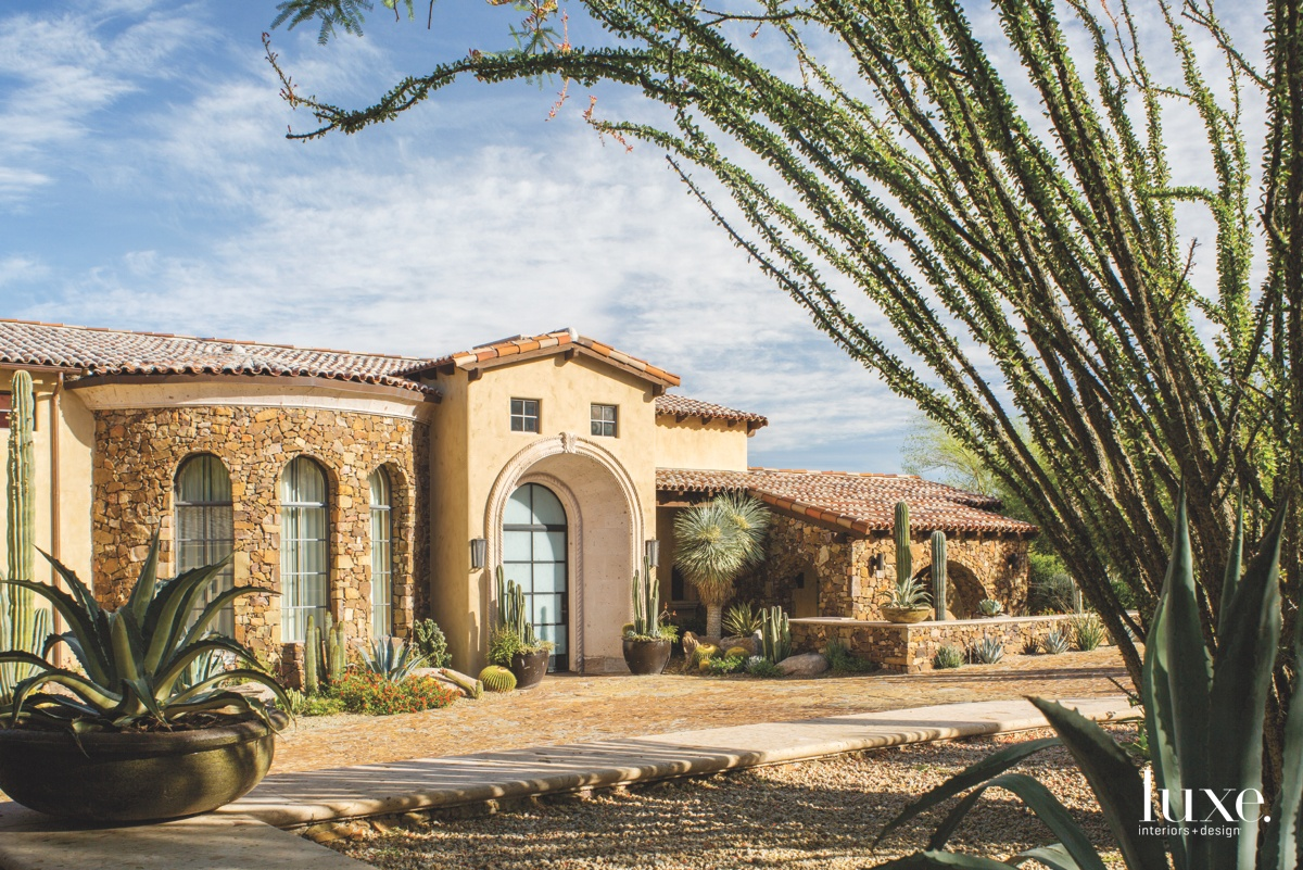 traditional exterior entry neutral stone
