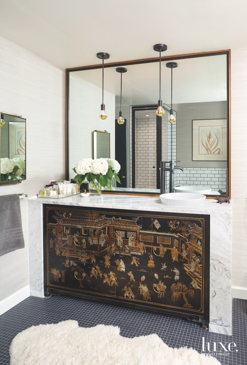modern bathroom antique Chinese cabinet...