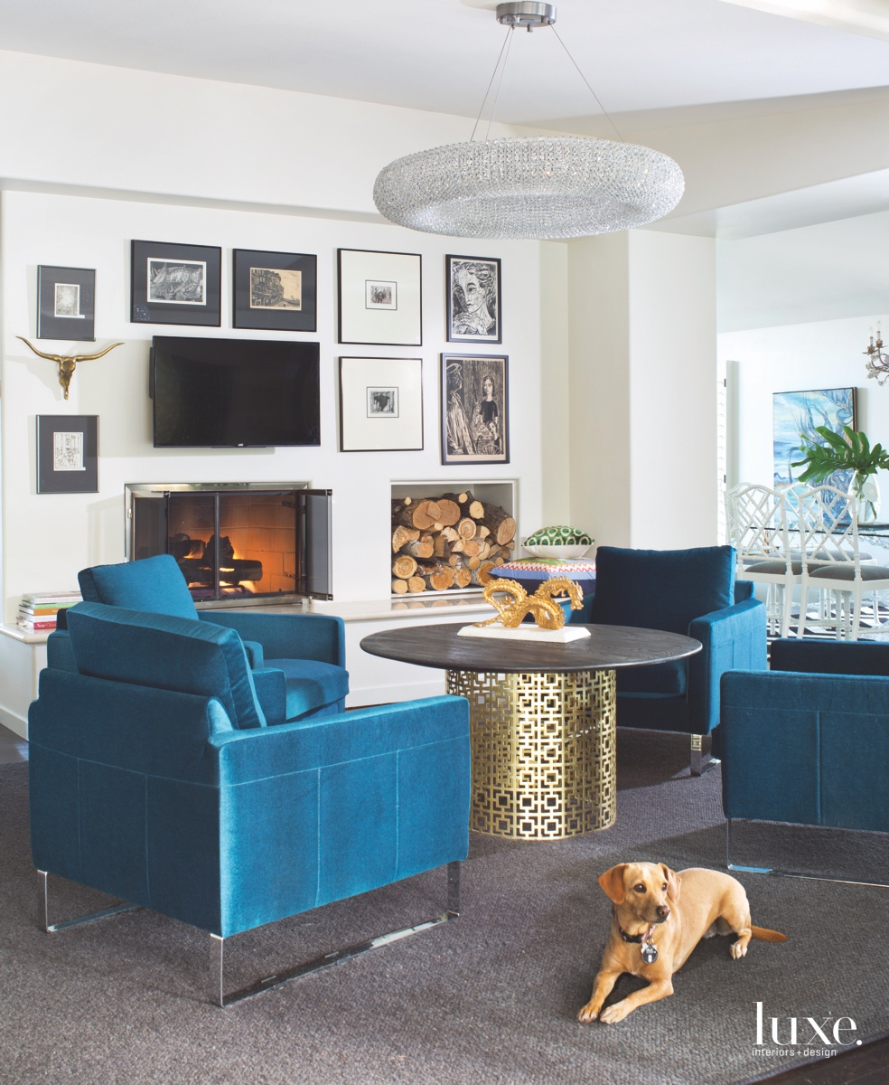 modern family room sculptural coffee...