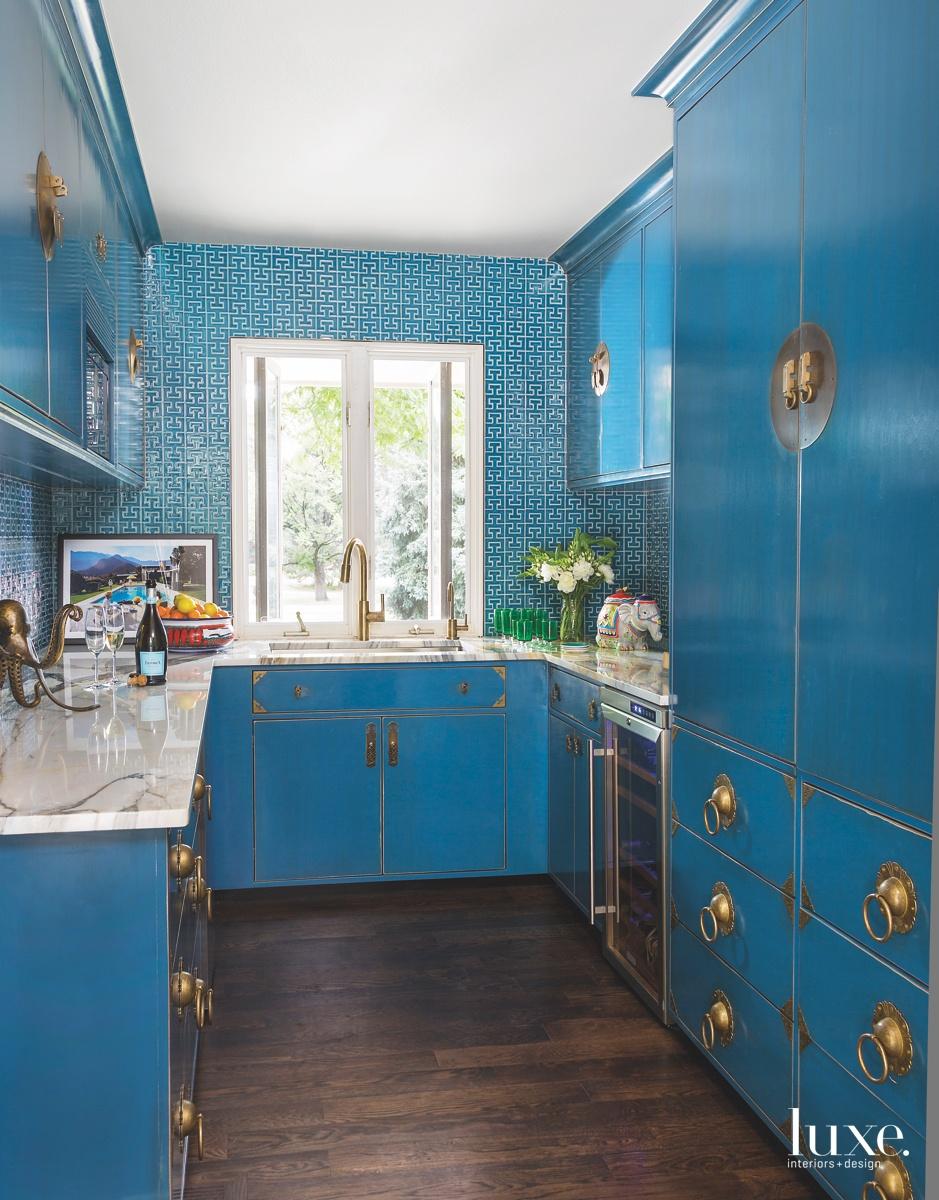 modern blue kitchen Chinese drawer...