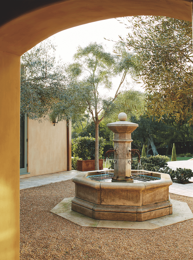 traditional exterior fountain