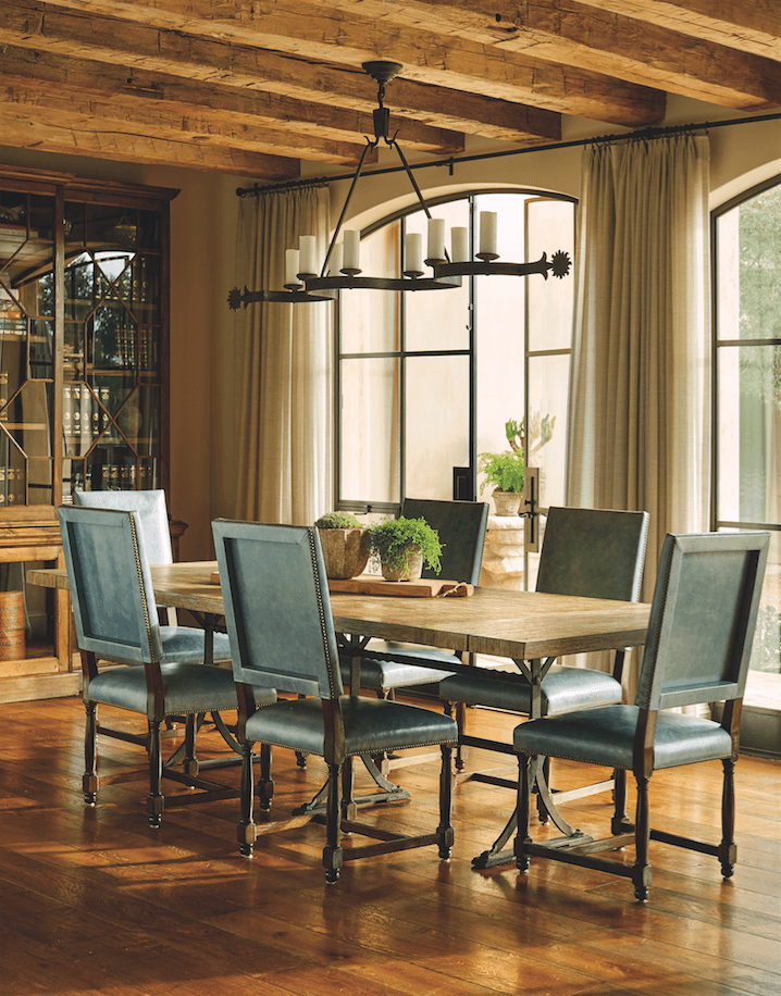 traditional dining room rustic chandelier