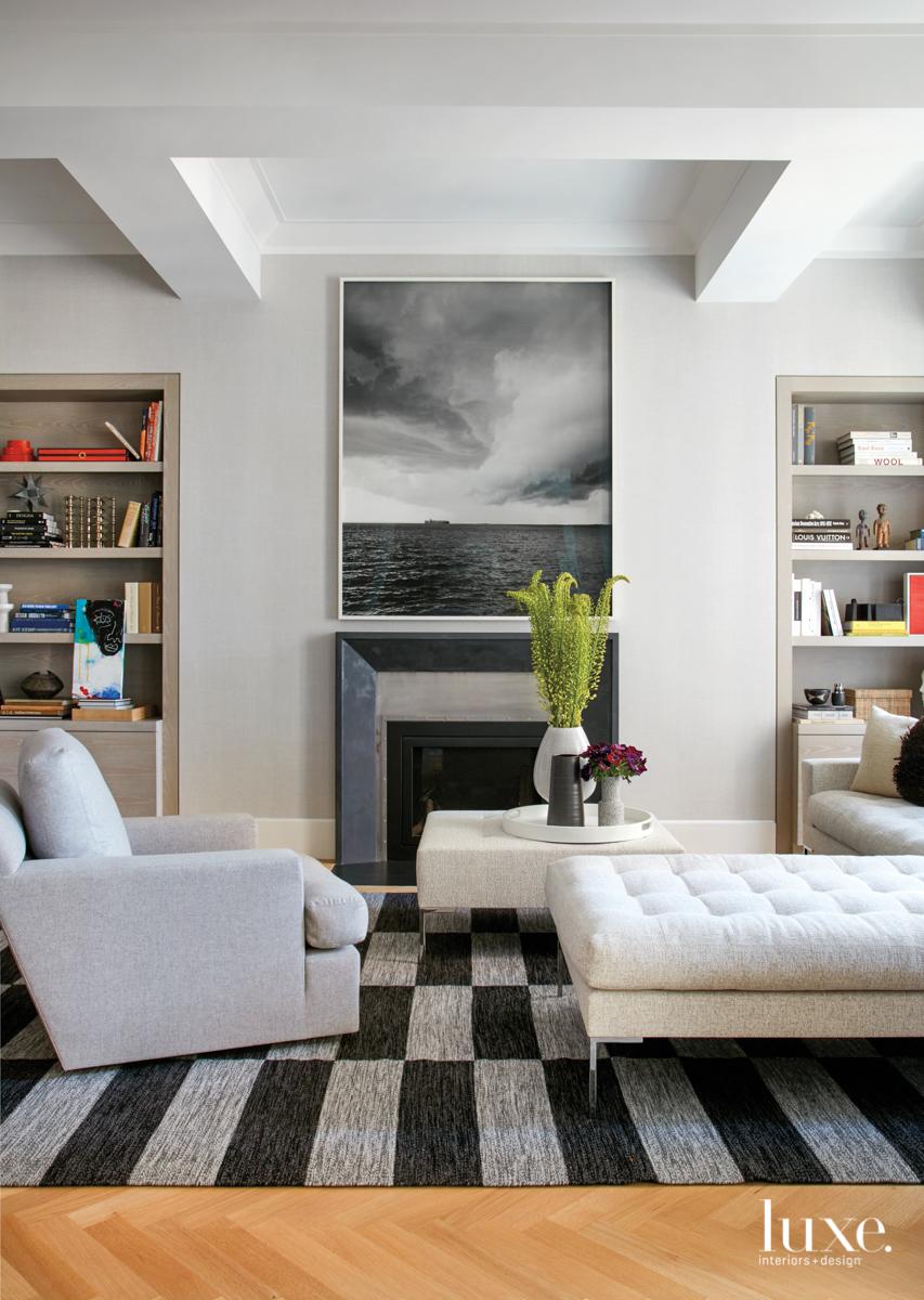 modern living room gray palette