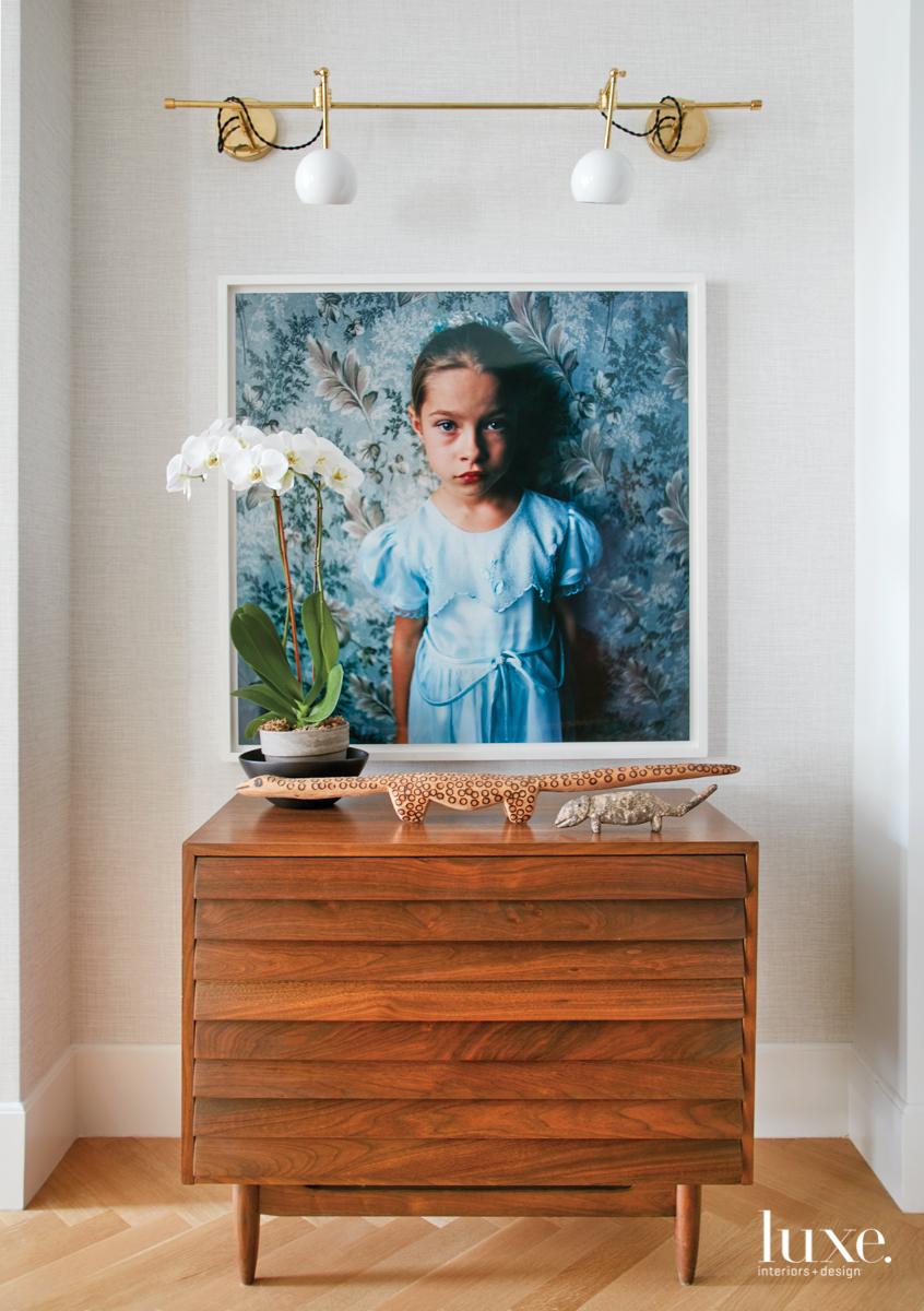 modern foyer hall vintage chest...