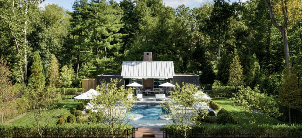 exterior pool and landscape